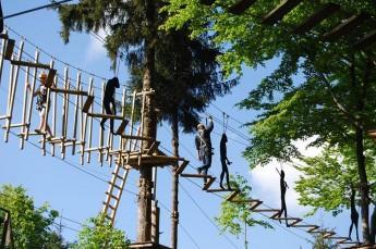 Ustroń Atrakcja park linowy na Równicy
